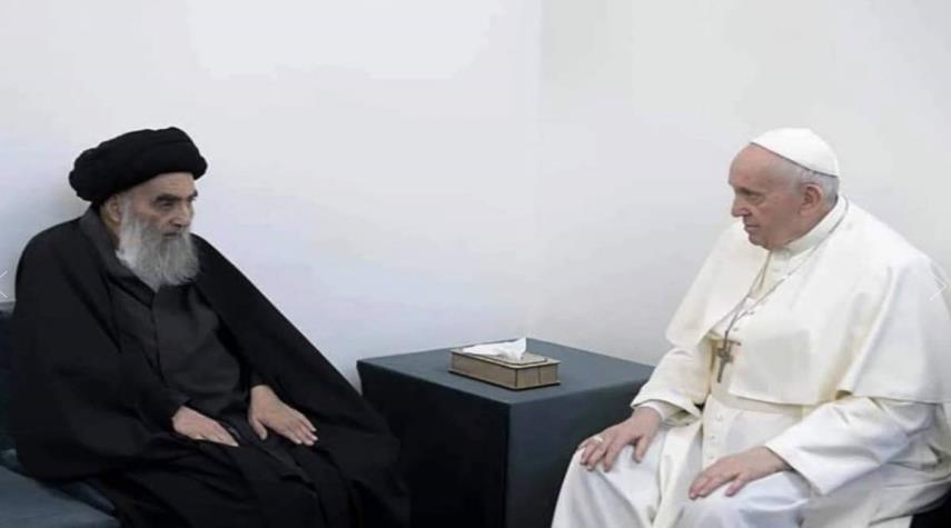 الابعاد المهمة والجميلة لزيارة البابا فرنسيس للمرجع السيستاني