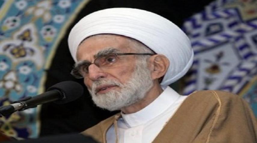ايران تعزي بوفاة الشيخ أحمد الزين