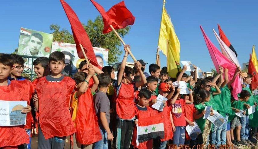 """احياء يوم القدس في """"نبل والزهراء"""" بريف حلب"""