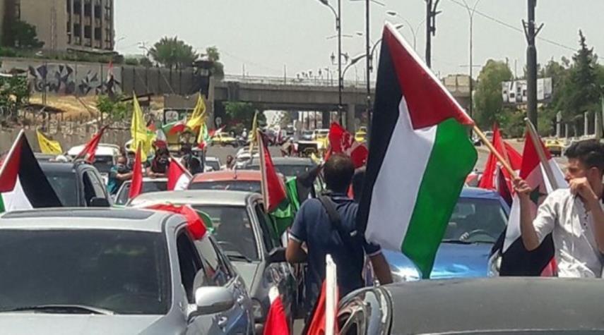 انطلاق مسيرة يوم القدس العالمي بدمشق